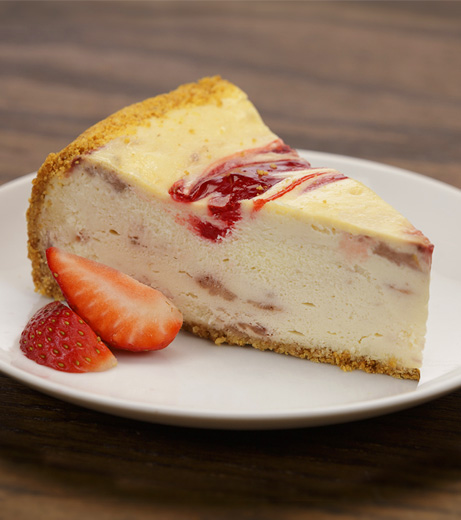 Aunt Marie's Strawberry Swirl Cheesecake